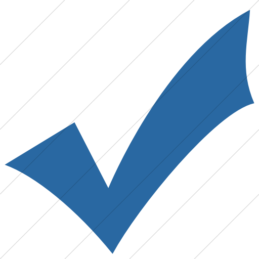 Simple Blue Classica Check Mark Icon