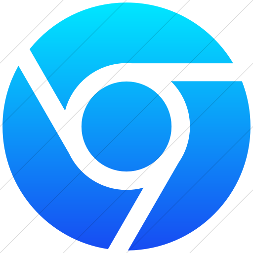 Simple Ios Blue Gradient Social Media Chrome Icon