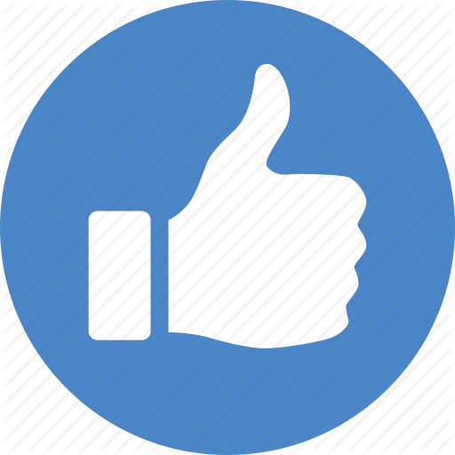Approve, Blue, Circle, Like, Thumbs, Up, Vote Icon