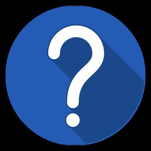 Blue Circle Question Mark Icon