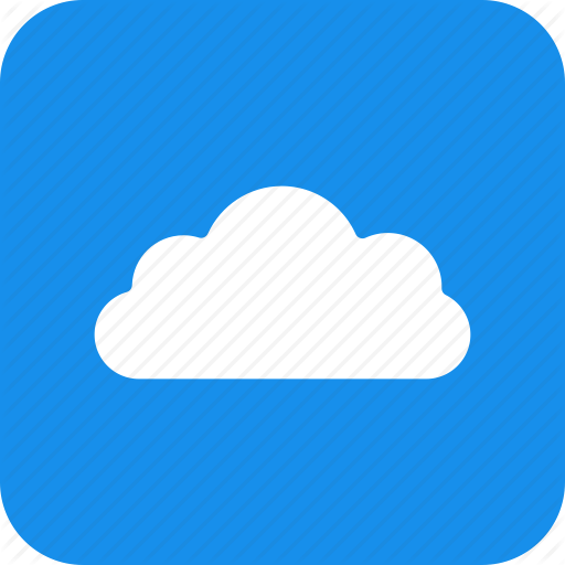 Blue, Cloud, Computing, Hosting, Services, Square Icon