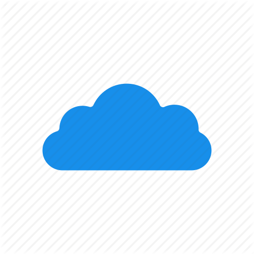 Blue, Cloud, Computing, Hosting, Services Icon