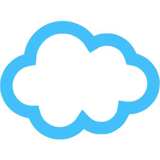 Caribbean Blue Cloud Icon