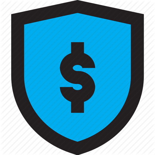 Blue, Business, Dollar, Shield Icon