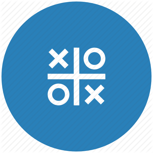 Blue, Cross, Game, Round, Zero Icon