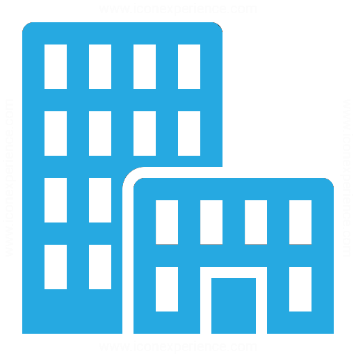 House And Office Icon Blue