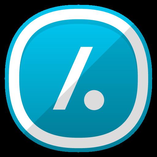 Slash Dot Icon Free Cute Shaded Social Iconset Designbolts