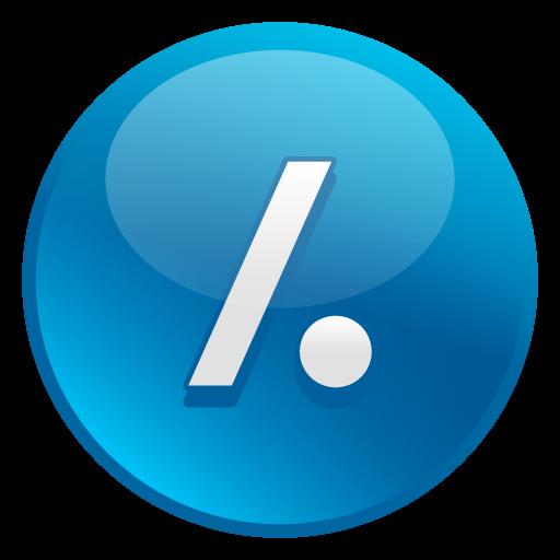 Slash Dot Icon Glossy Social Iconset Social Media Icons