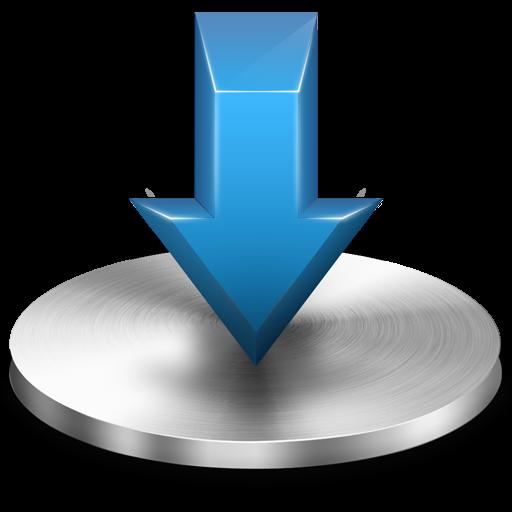 Blue Download Folder Icon