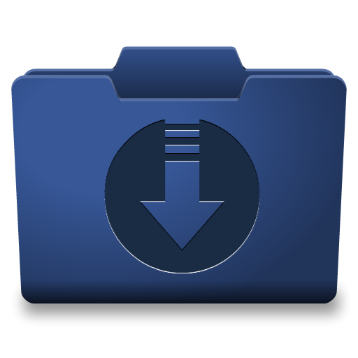 Blue Downloads Icon
