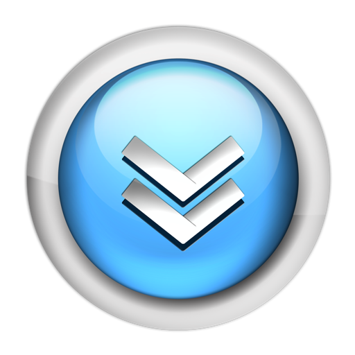 Blue Downloads Icon Png