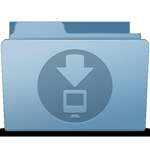 Downloads Folder Blue Icon Smooth Leopard Iconset Mcdo Design