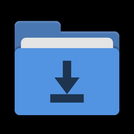 Folder Blue Download Icon Papirus Places Iconset Papirus