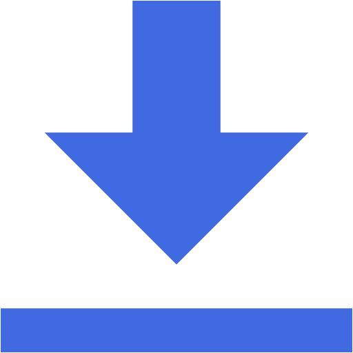 Royal Blue Data Transfer Download Icon