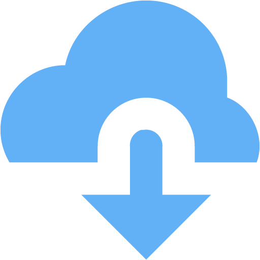 Tropical Blue Cloud Download Icon