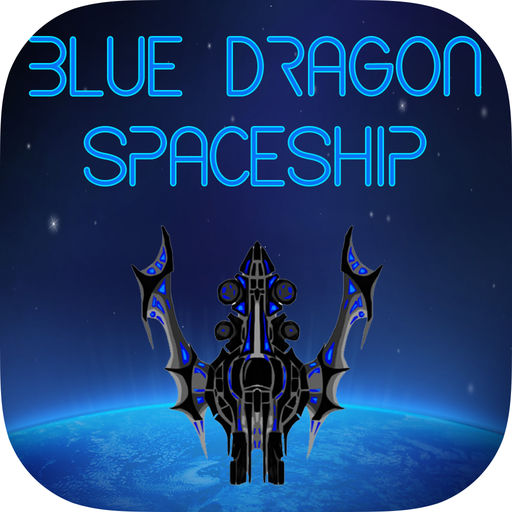 Blue Dragon Spaceship Alein Galaxy War