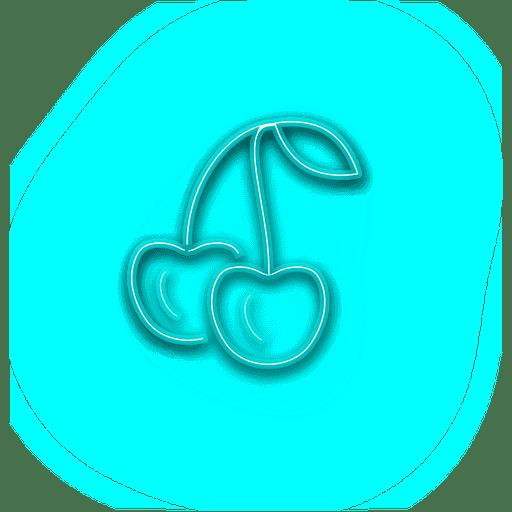 Neon Blue Cheery Icon