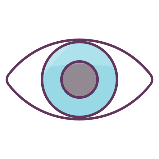Blue Eye Icon Free Of Office Icons