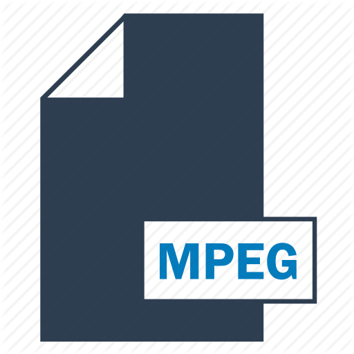 Blue, File, Format, Mpeg Icon
