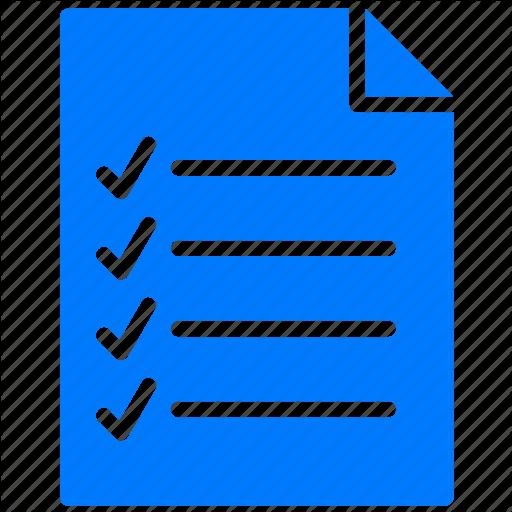 Checklist Icon Blue Blue, Checklist, Document
