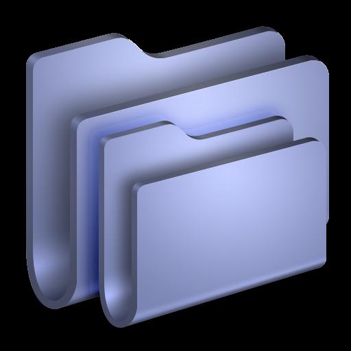 Folders Blue Folder Icon Alumin Folders Iconset Wil Nichols