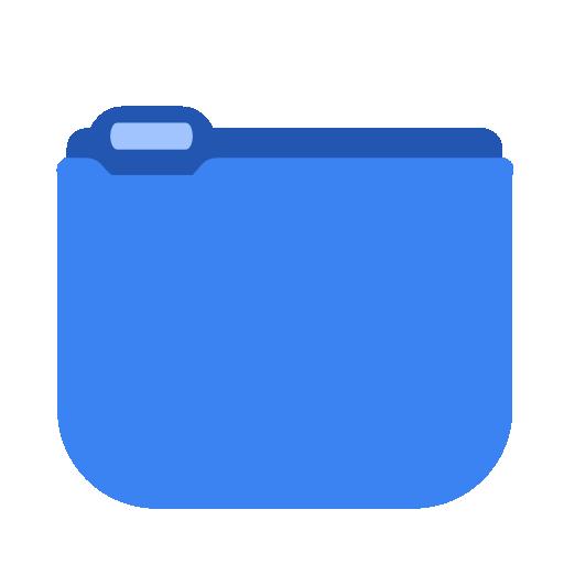 System Blue Folder Icon Squareplex Iconset