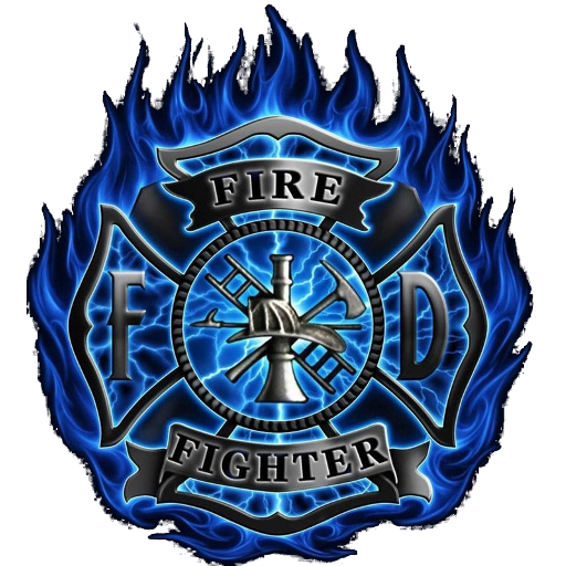 Firefighter Blue Flame Clock Widget Appstore For Android