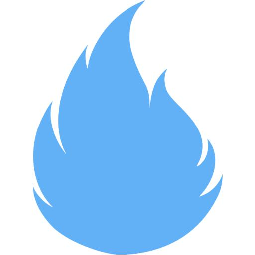 Tropical Blue Flame Icon