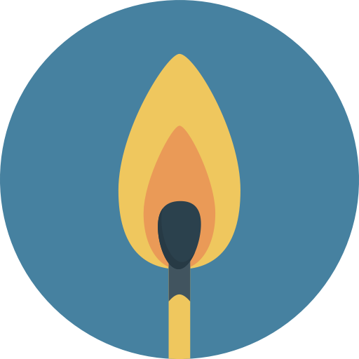 Match, Fire, Flame Icon