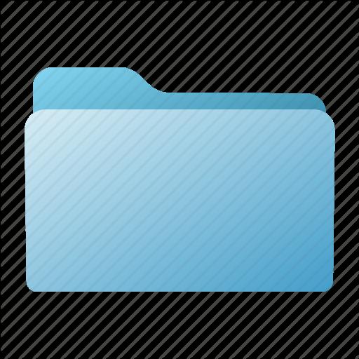 Blue, Closed, File, Folder Icon