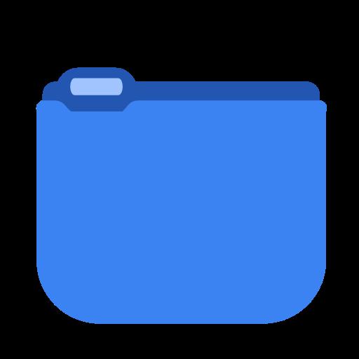 Blue, Folder Icon Free Of Squareplex Icons