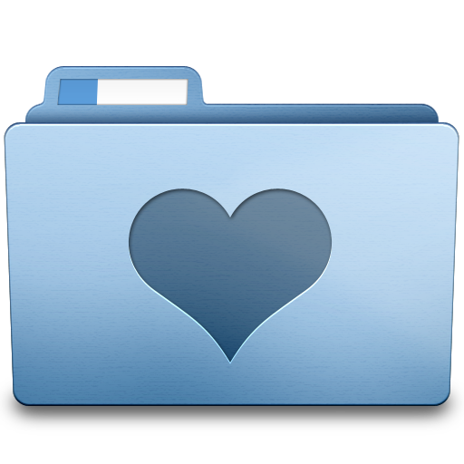 Blue Favorites Icon