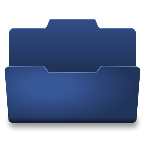 Blue Open Icon