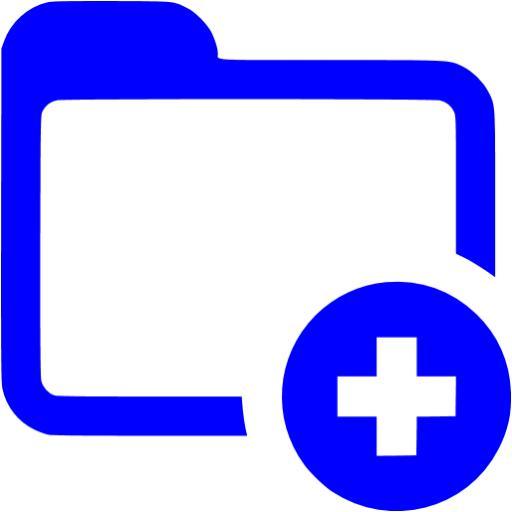 Blue Add Folder Icon