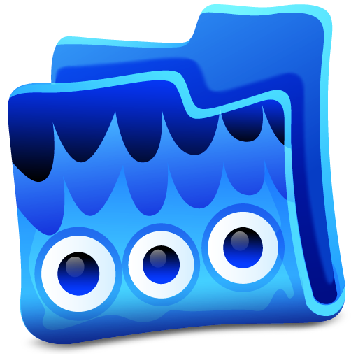 Blue Folder Icon Creature Folders Iconset Fast Icon Design