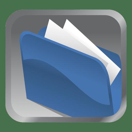 Blue Folder Square Icon