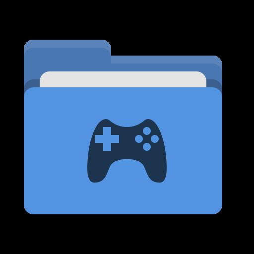 Folder, Blue, Games Icon Free Of Papirus Places