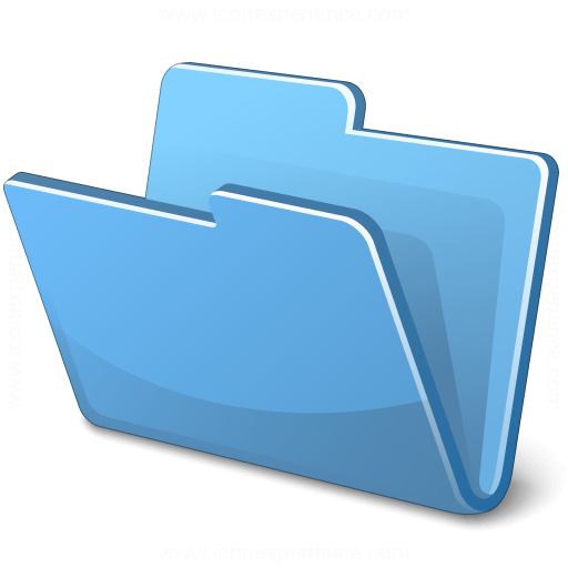 Iconexperience V Collection Folder Blue Icon