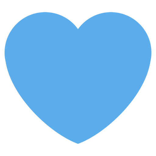 Blue Heart Emoji For Facebook, Email Sms Id