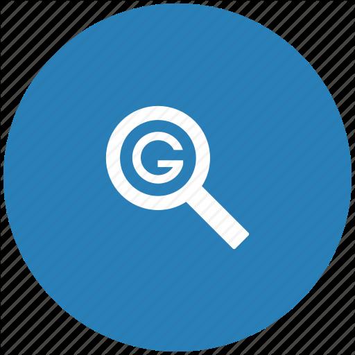 Blue, Google, Optimization, Round, Search, Seo Icon