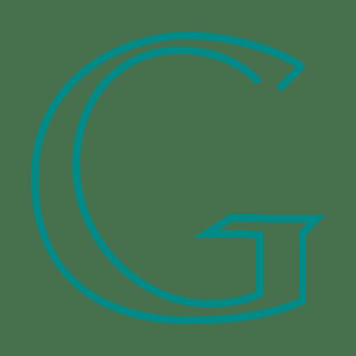 Blue Google Sign Line Icon