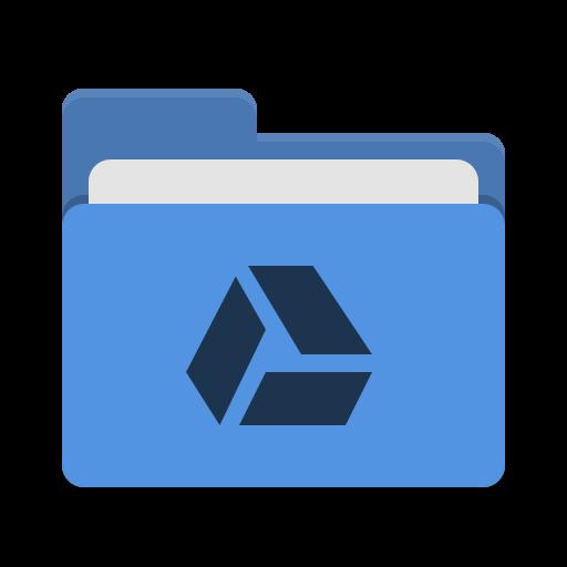 Folder Blue Google Drive Icon Papirus Places Iconset Papirus