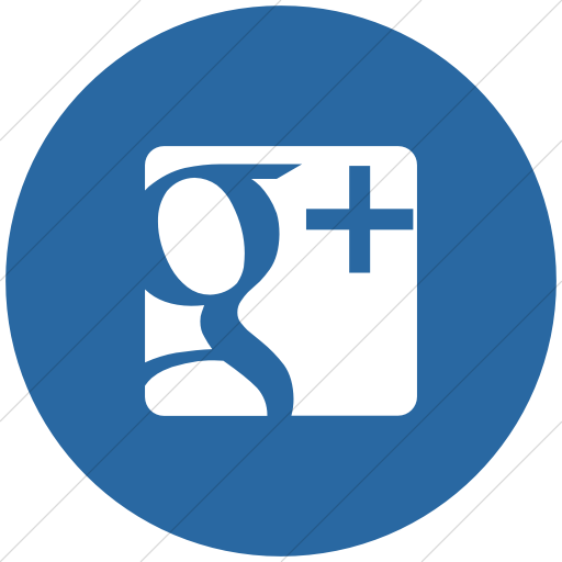 Flat Circle White On Blue Raphael Google Plus Icon