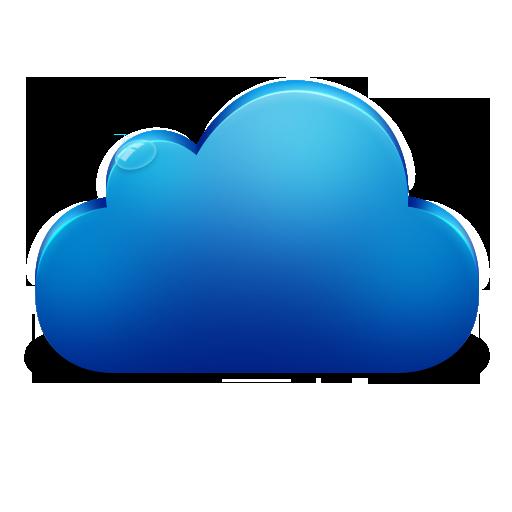 Cloud Plain Blue Icon
