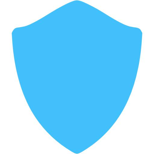 Caribbean Blue Shield Icon