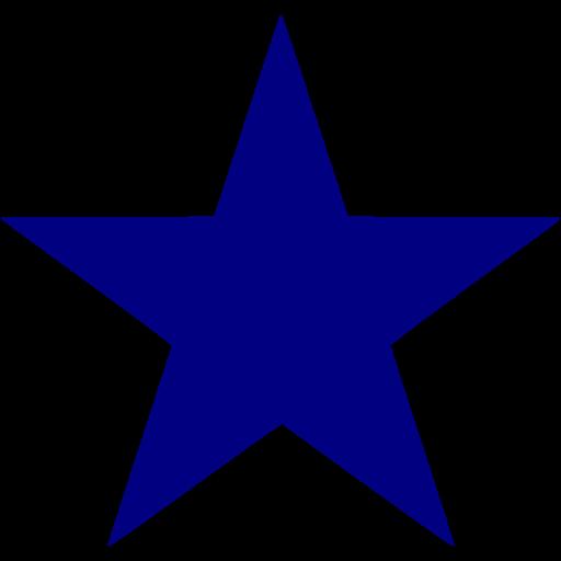 Navy Blue Star Icon
