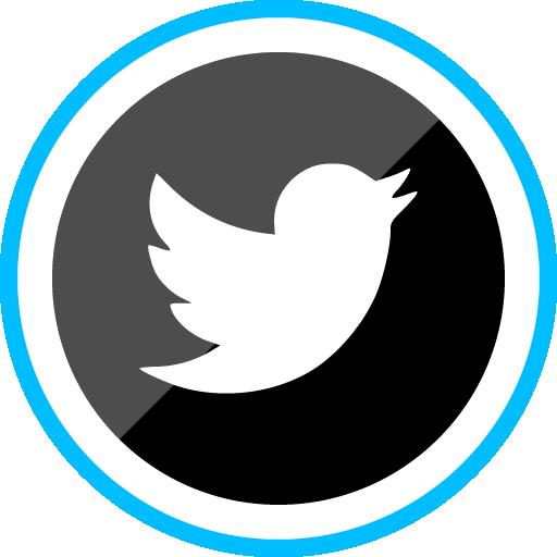 Twitter Free Sleak Blue Round Social Media Icon