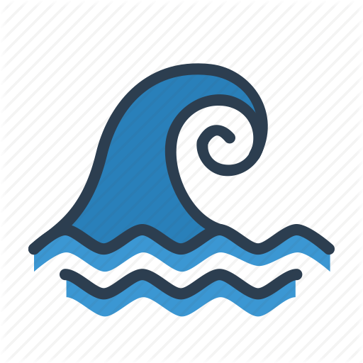 Big Wave, Catastrophe, Ocian, Tsunami Icon