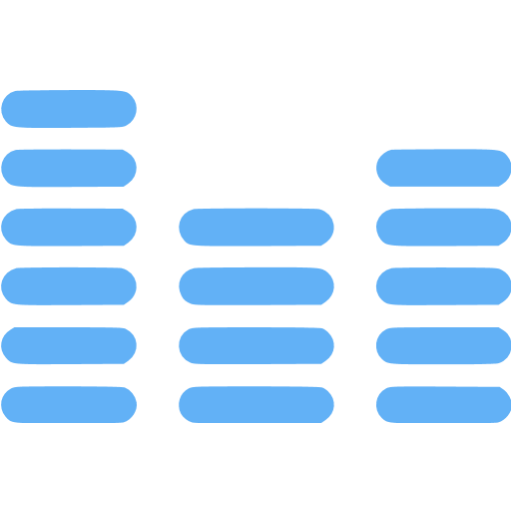 Tropical Blue Audio Wave Icon