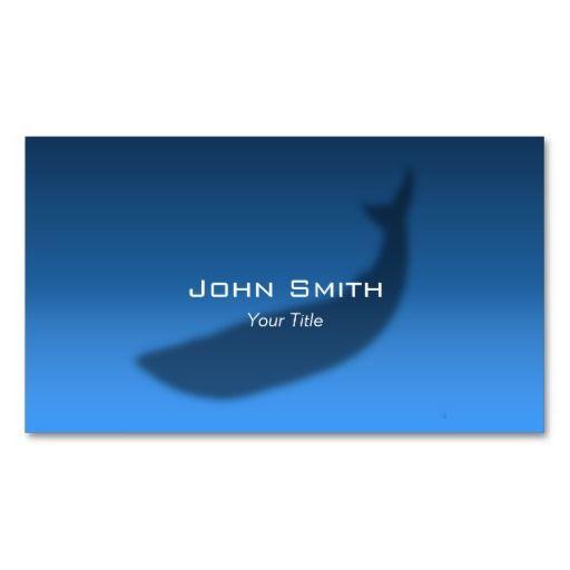 Blue Whale Echo Elegant Music Business Card Business